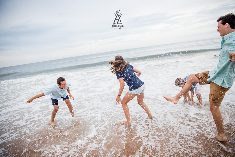 Family Beach Session in Ormond Beach